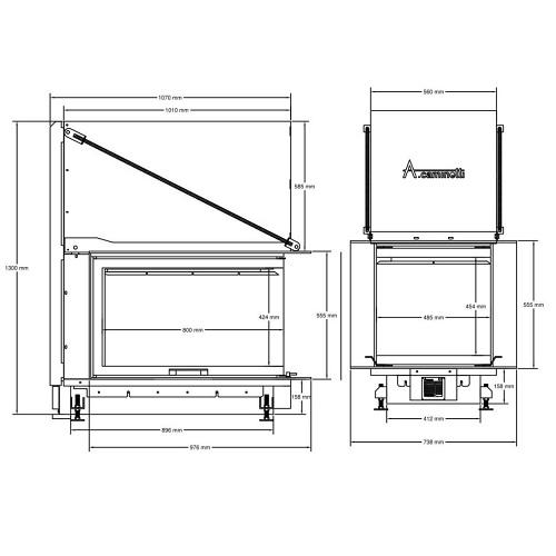 Kamineinsatz A Caminetti Crystal 3D Max 17 kW