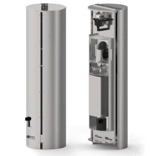Rauchsauger Exodraft Elektrostatischer Partikelabscheider ESP - Vertikaler auswerfend