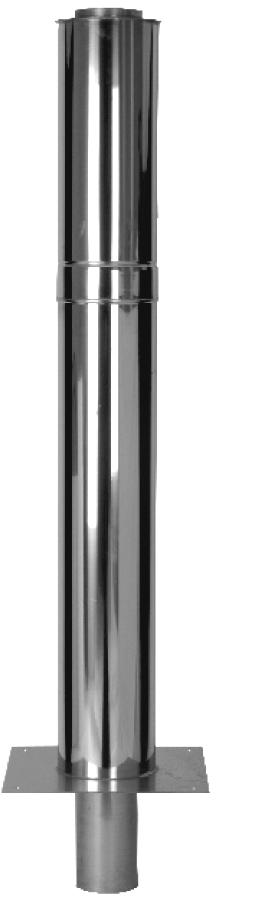 Schornsteinverlängerung - doppelwandig - 1000 mm wirksame Höhe - Jeremias