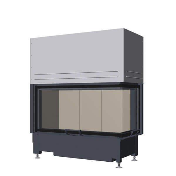 Kamineinsatz SCHMID Ekko R 100(45) h 9kW, Schiebetür (Glas einteilig)