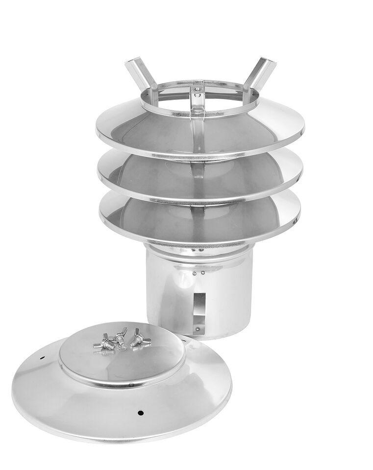 Lamellenaufsatz HUBO - 4 Lamellen und Einschubstutzen - Edelstahl