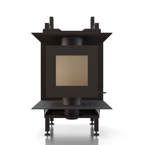 Kachelofeneinsatz Brunner DF 33 Doppelglasscheibe für bauseitige Anbindung einer Nachheizfläche, 9 kW