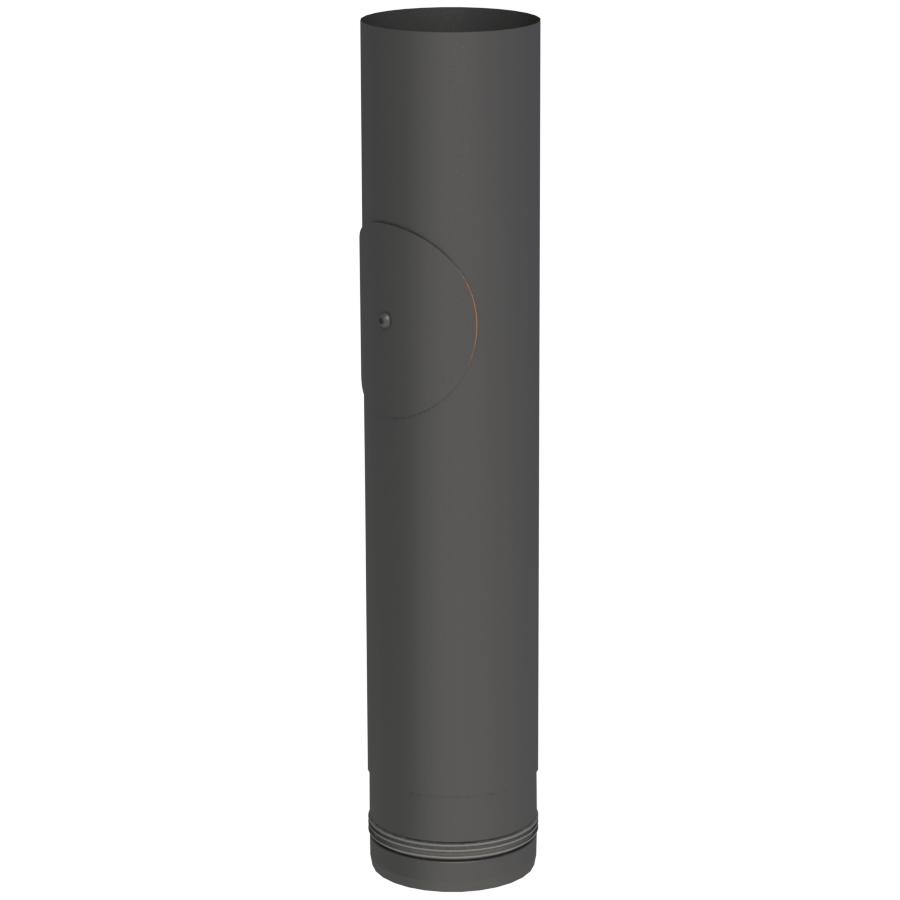 Pelletofenrohr - Längenelement 500 mm mit Revision schwarz - Jeremias Pellet-Line