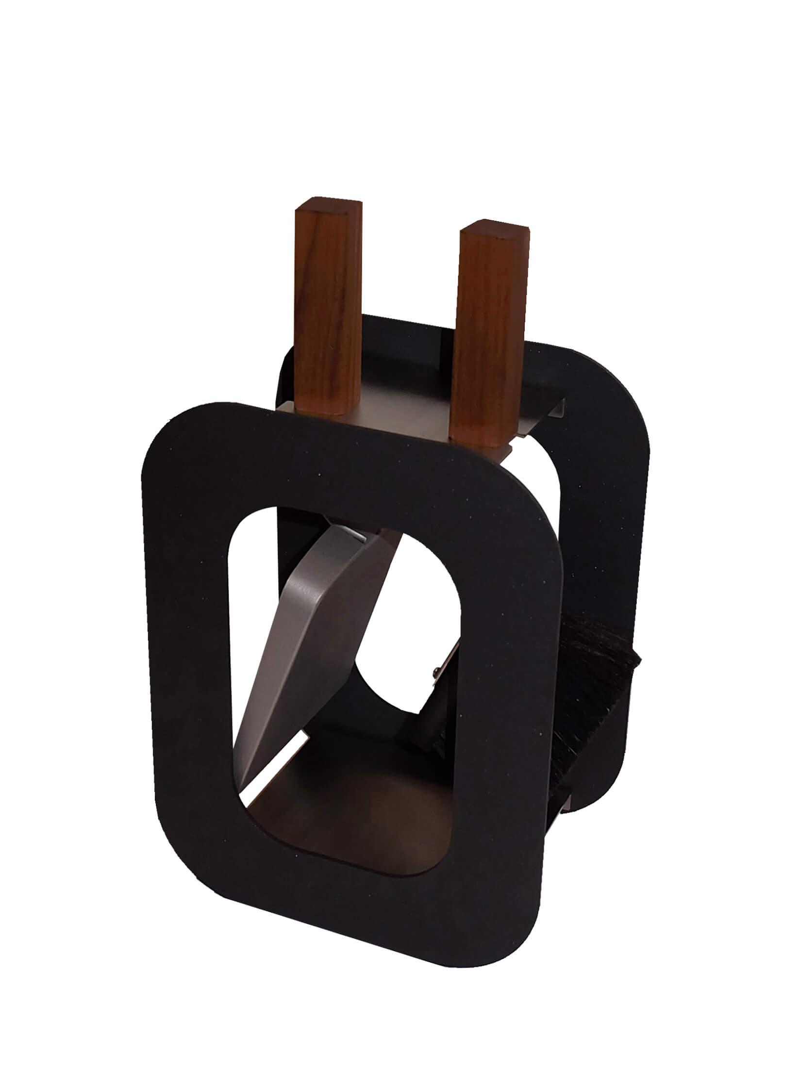 Kaminbesteck Lienbacher Cube 2-teilig, Schwarz