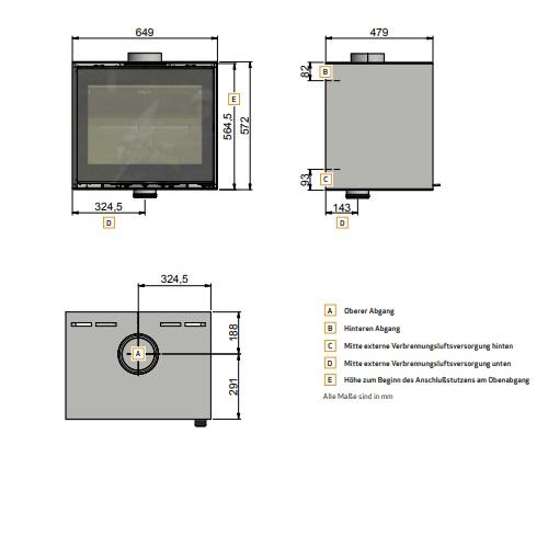 Kamineinsatz Scan 1003-B 7,2kW
