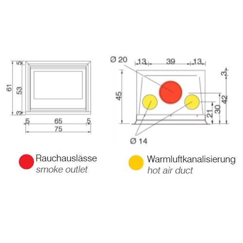 Kamineinsatz Edilkamin Firebox Luce Plus 54 9,6kW