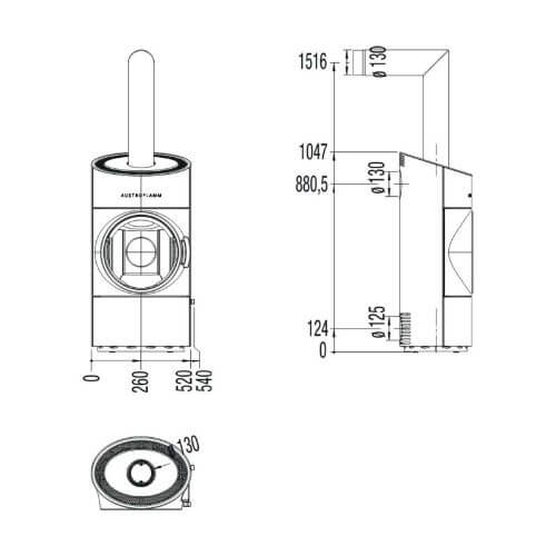 Pelletofen Austroflamm Clou Compact 6kW