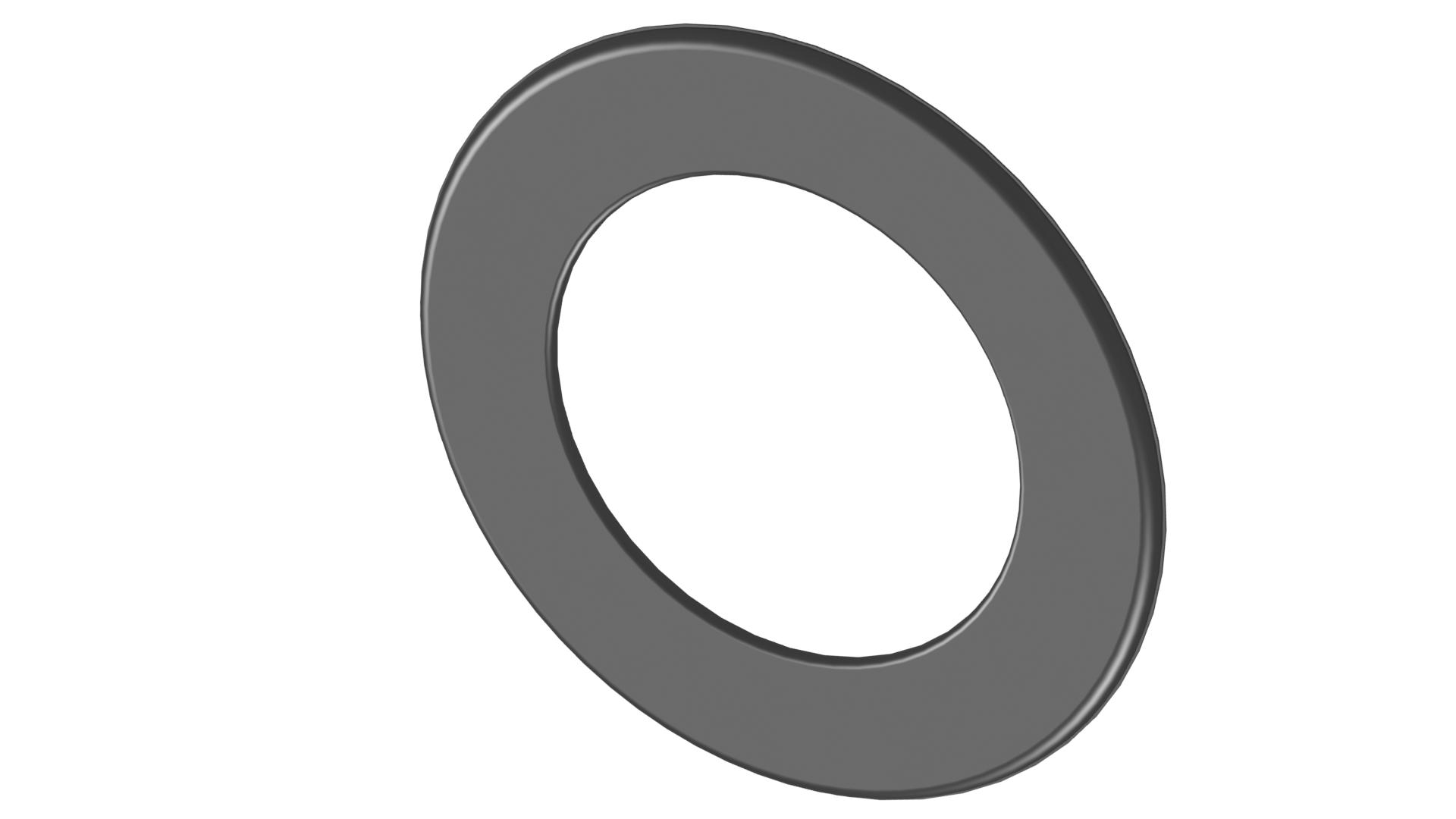 Ofenrohr - Wandrosette 55 mm - schwarz